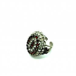 OLD RUBY CRYSTAL RING ADJUSTABLE RING