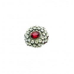 ANCIENT CRYSTAL AND RUBY RING ADJUSTABLE RING