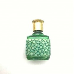 MINIATURE OF PERFUME COLLECTION RECTANGULAR GREEN BOTTLE GALUCHAT SHEATH