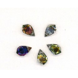 10 PEARS DROP 2 HOLES STRASS SIZE 10X6 VOLCANO COLOR CRYSTAL