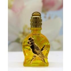 PERFUME MINIATURE GOLD PARROT DECOR, YELLOW DIAL SHAPE