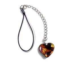 Valentinette topaz night silver charm phone