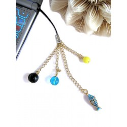 Aquarius turquoise cell phone charm