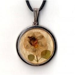 NECKLACE ART DECO NATURAL VINTAGE FLOWER